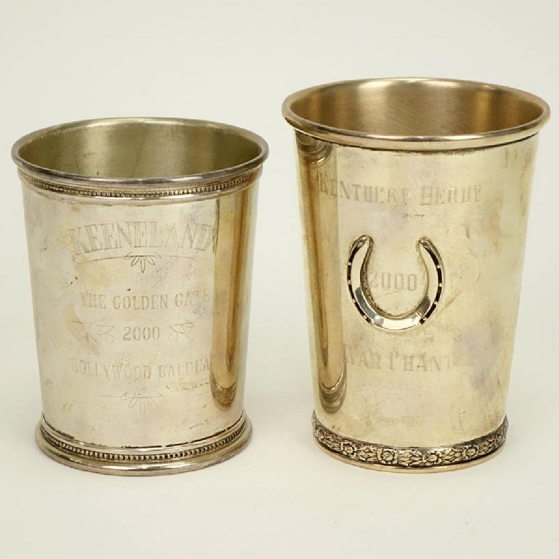 Two (2) Sterling Silver Julep Cups. Kentucky Derby 2000