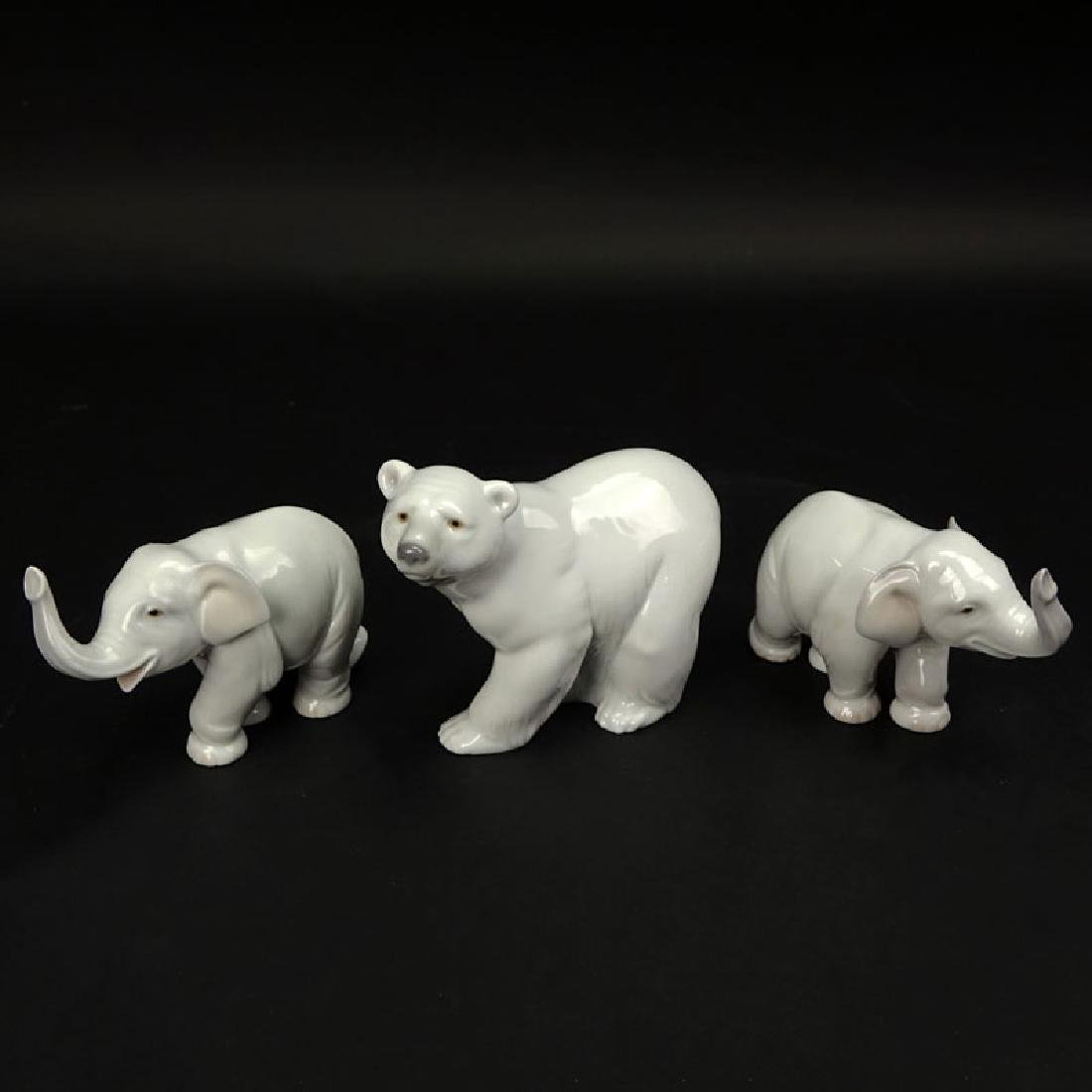 Three (3) Lladro Porcelain Figurines. Includes 2