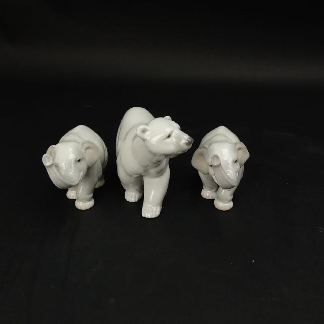 Three (3) Lladro Porcelain Figurines. Includes 2 - 6