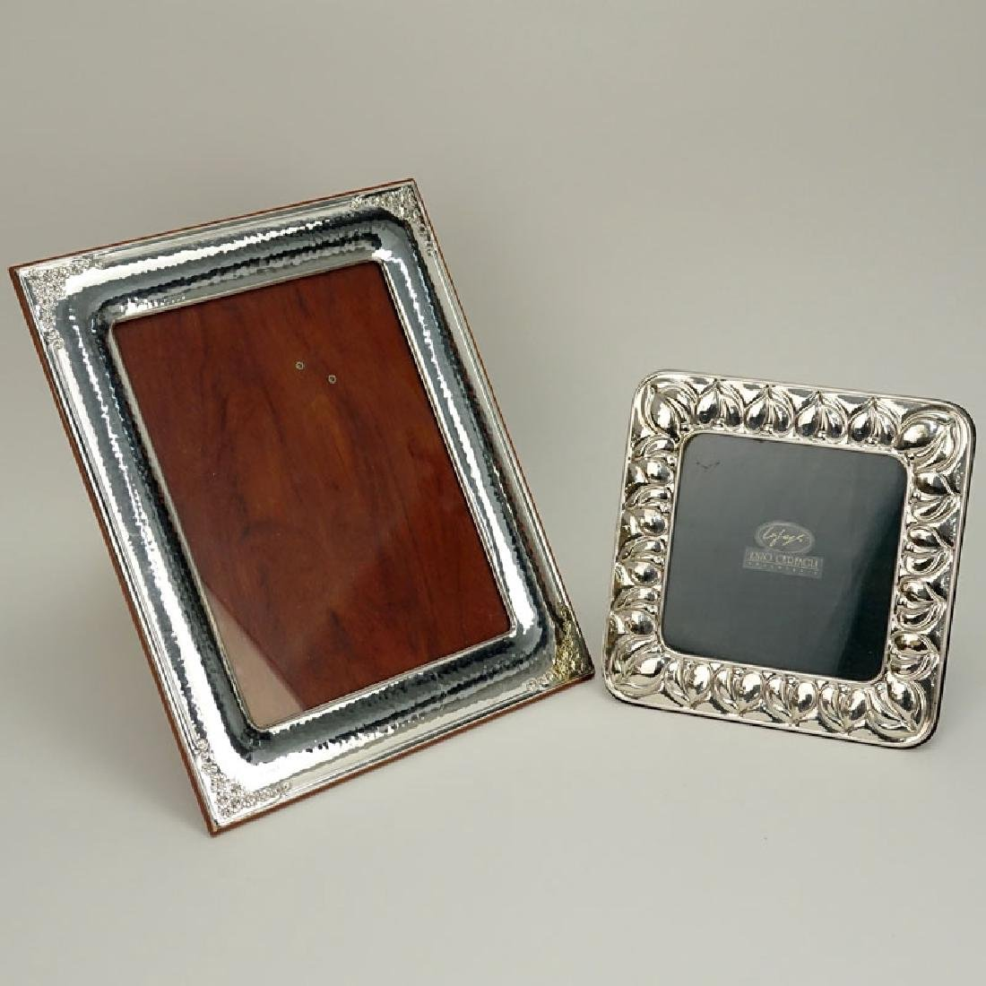Two (2) Sterling Silver Picture Frames. Signed. Good
