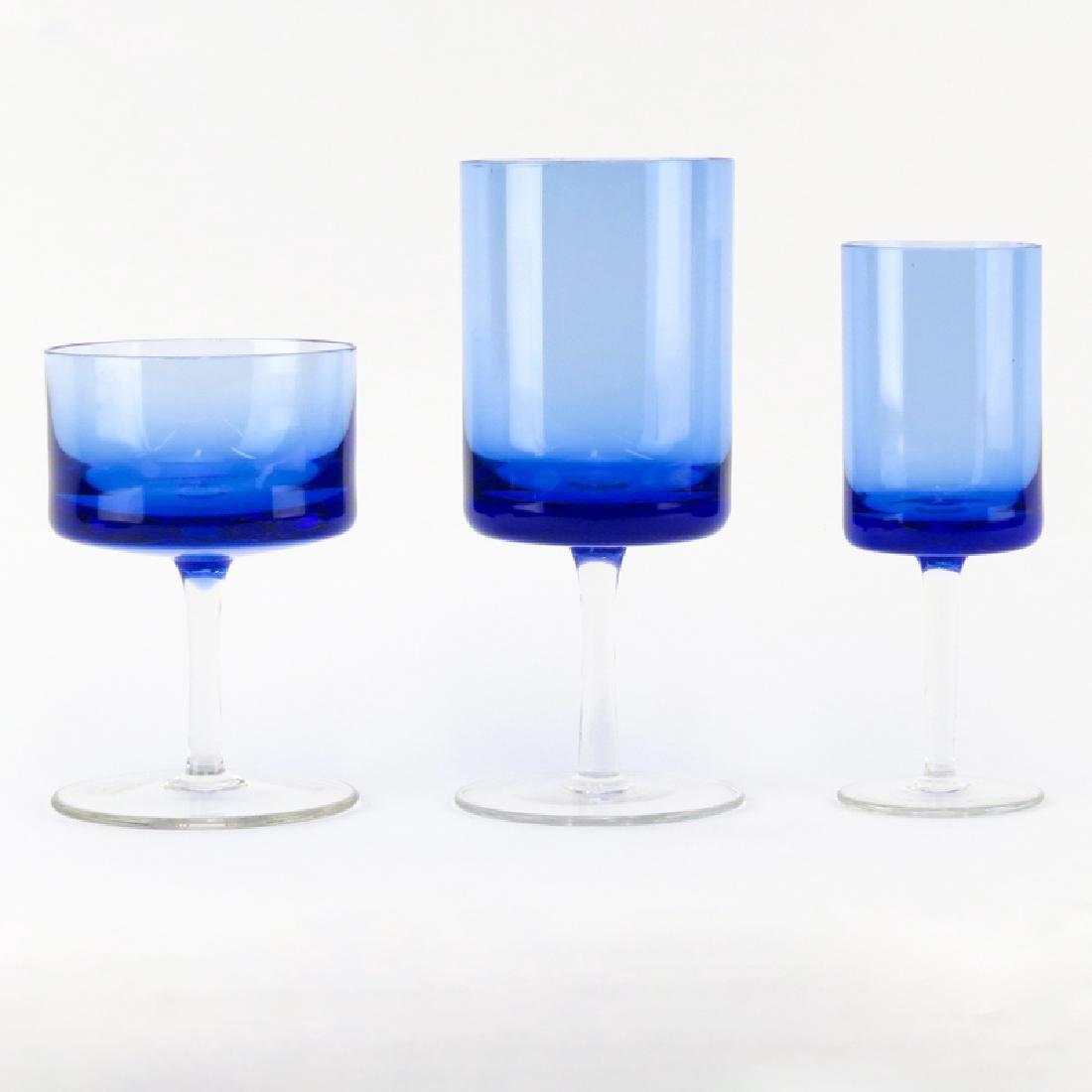 Grouping of Thirty (30) Mid Century Cobalt Blue to
