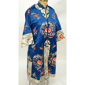 Early 20th Century Chinese Finely Embroidered Silk