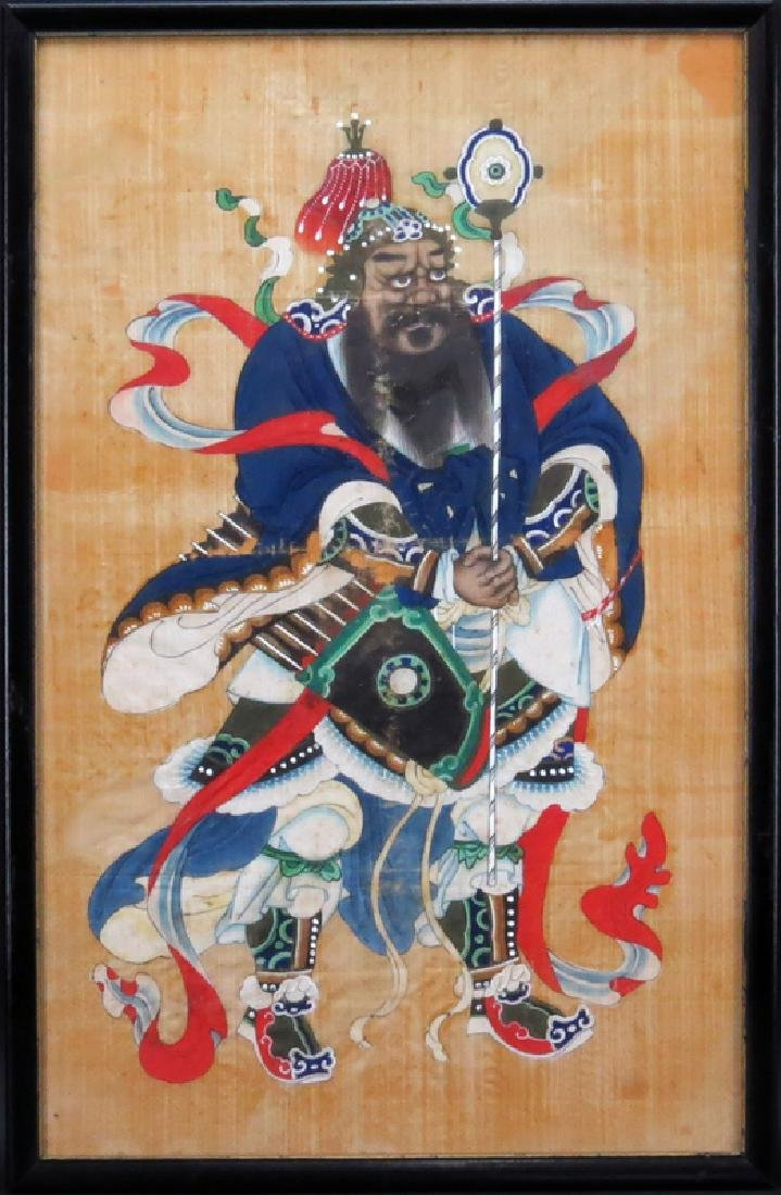 Pair of Chinese Silk Paintings of Court Figures. Some - 2