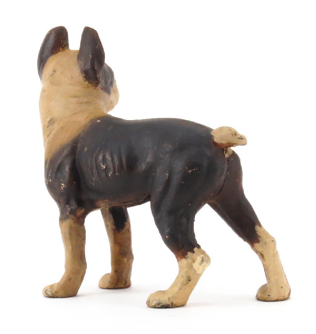 Vintage Boston Terrier Cast Iron Door Stop. Wear to - 2