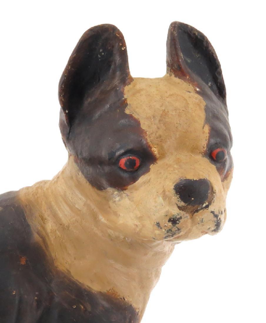 Vintage Boston Terrier Cast Iron Door Stop. Wear to - 4