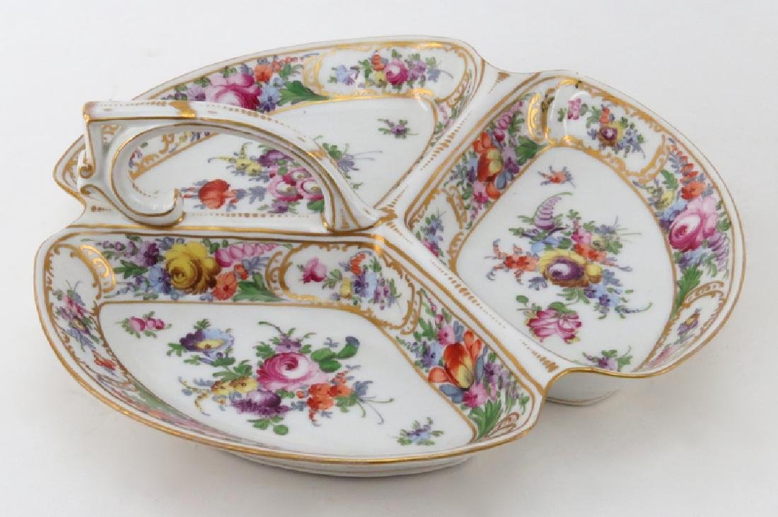 Grouping of Two (2) Hand Painted Porcelain Tabletop - 2