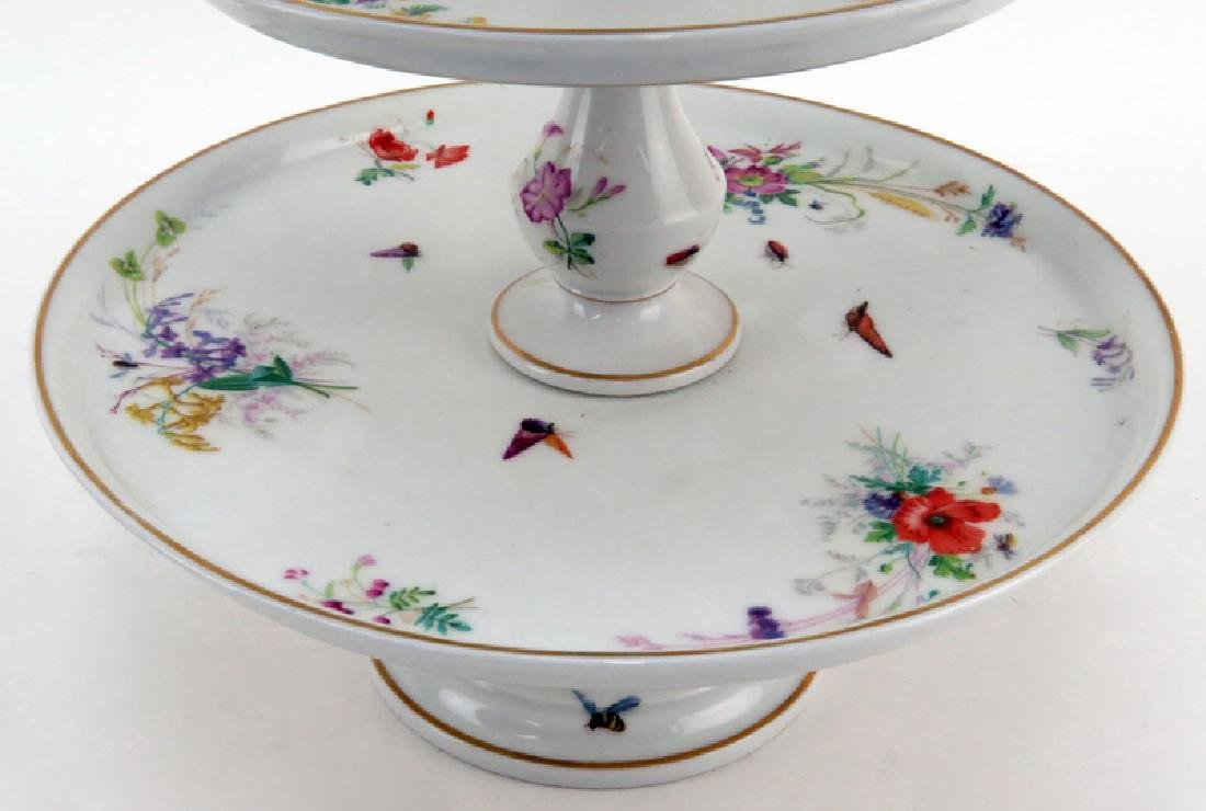 Grouping of Two (2) Hand Painted Porcelain Tabletop - 3