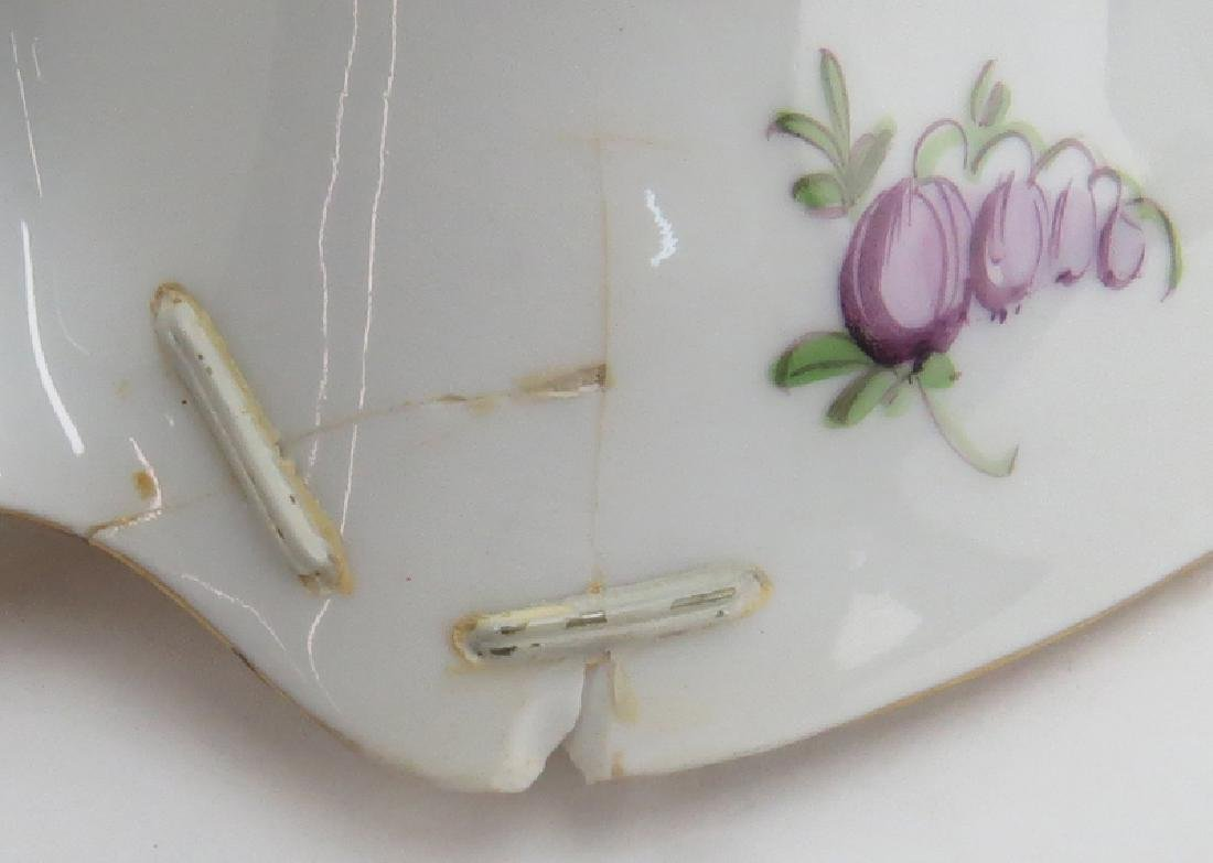 Grouping of Two (2) Hand Painted Porcelain Tabletop - 6