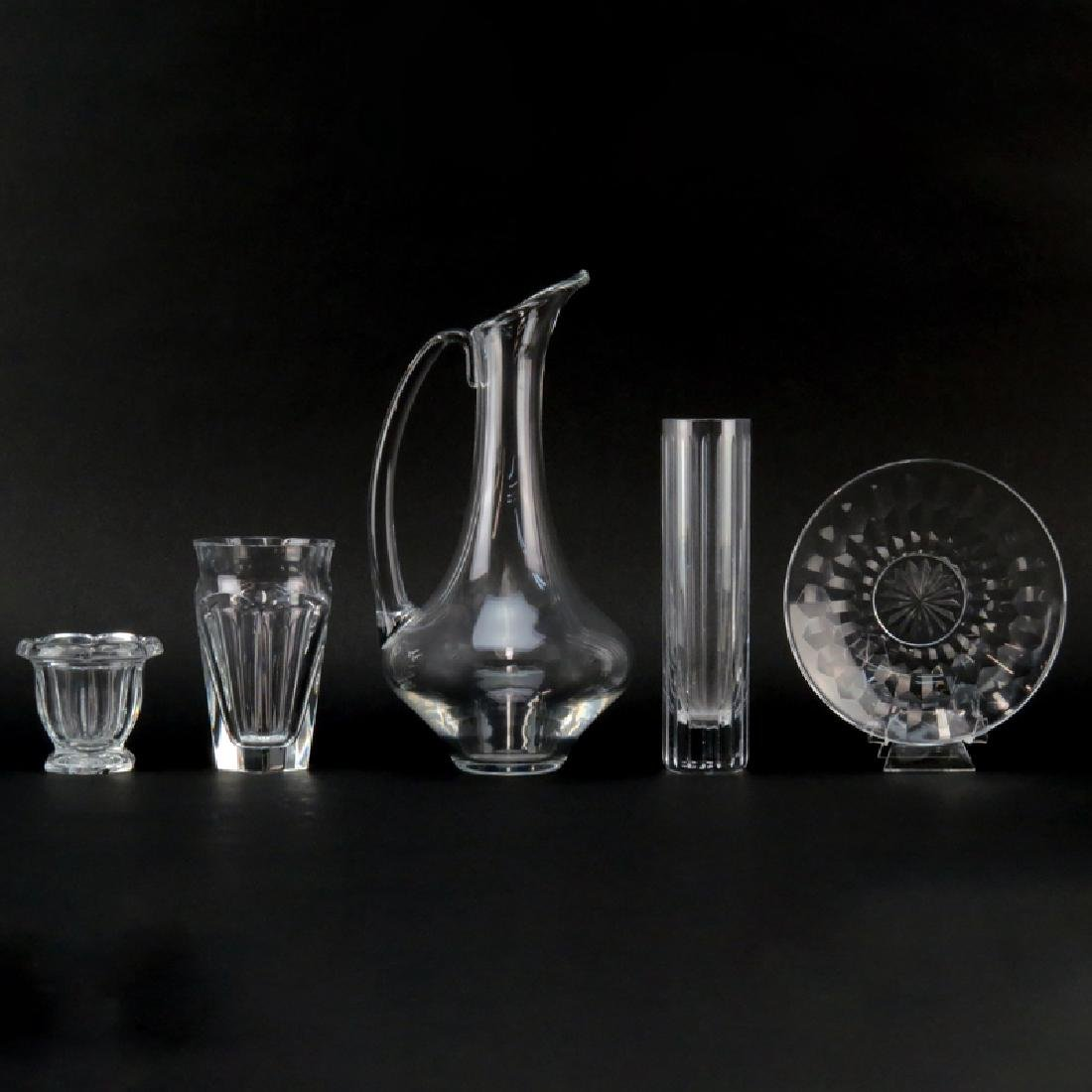 Grouping of Five (5) Baccarat Tabletop Items. Includes: