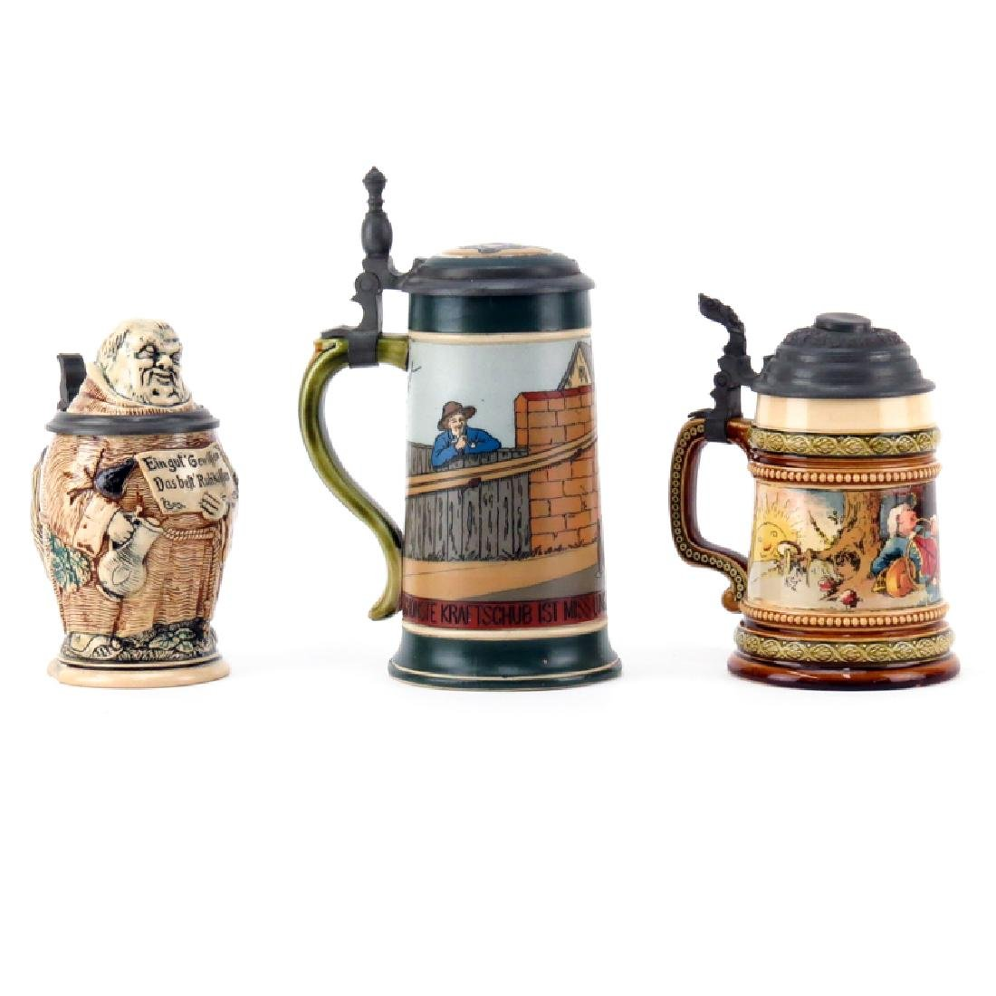 Three (3) Piece Lot of Vintage Steins. Includes 2