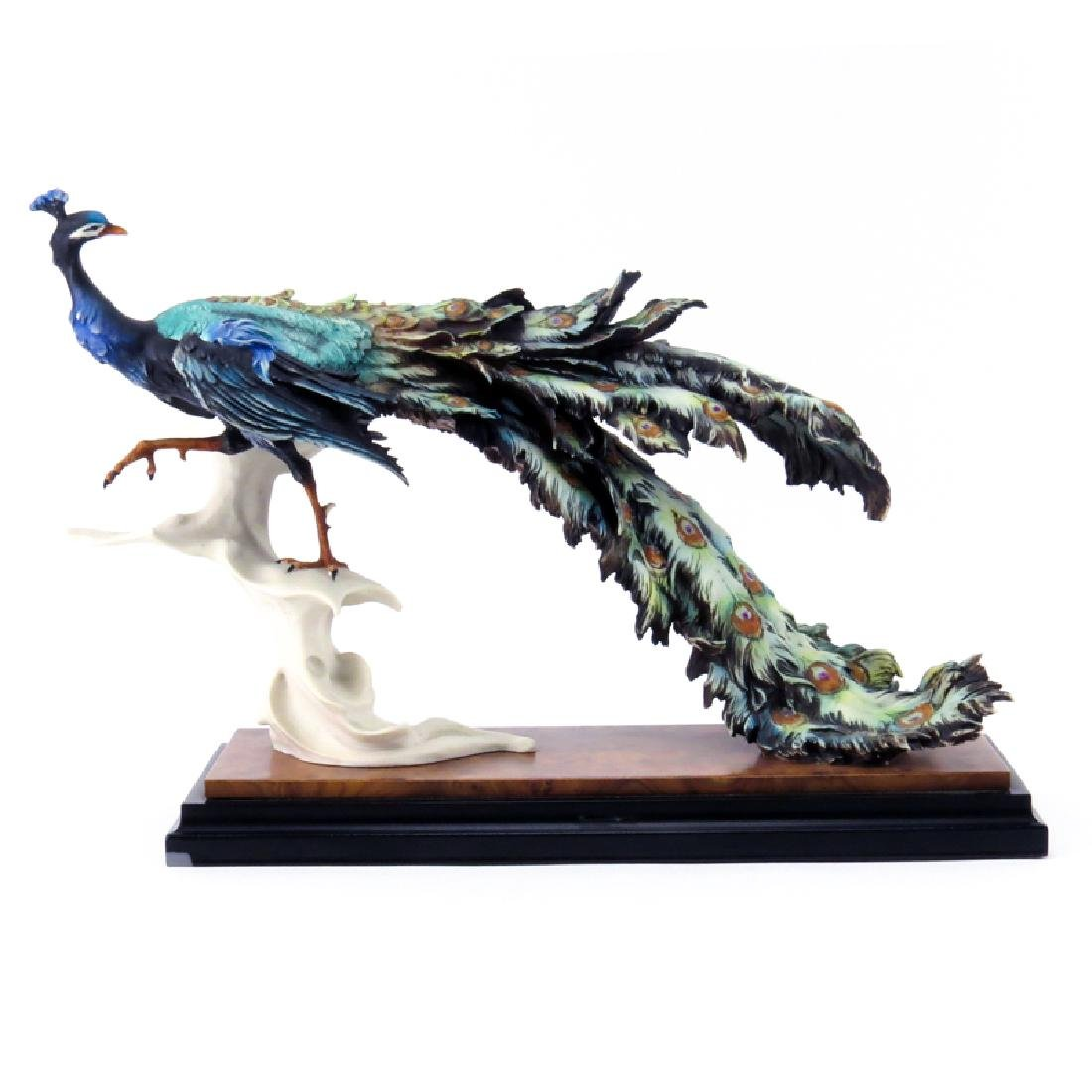 Limited Edition Giuseppe Armani Peacock Figurine