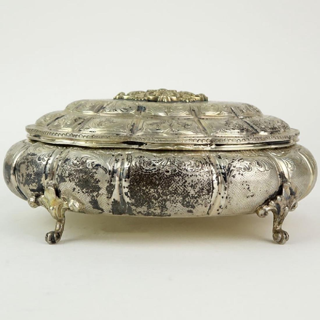 Antique 800 Silver Scrolled and Repousse Footed Dresser - 2