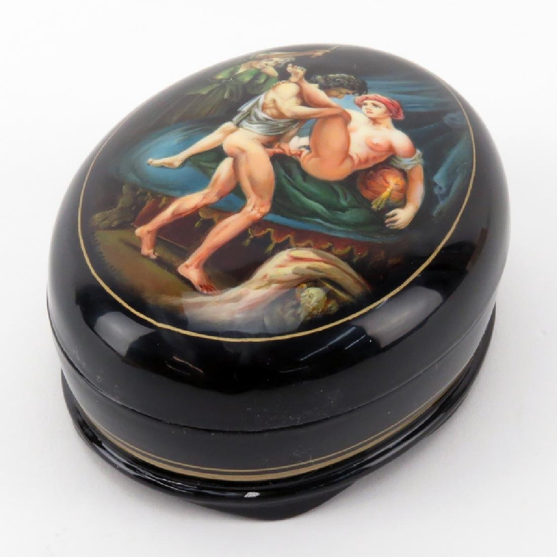 "Russian ""Erotica"" Lacquered Box. Unsigned. As new"