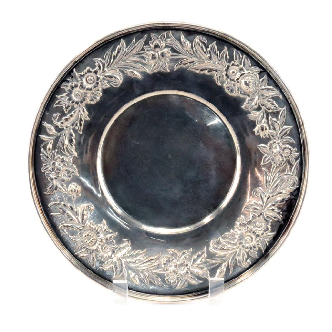 Vintage Kirk Sterling Silver Plate. Signed. Light