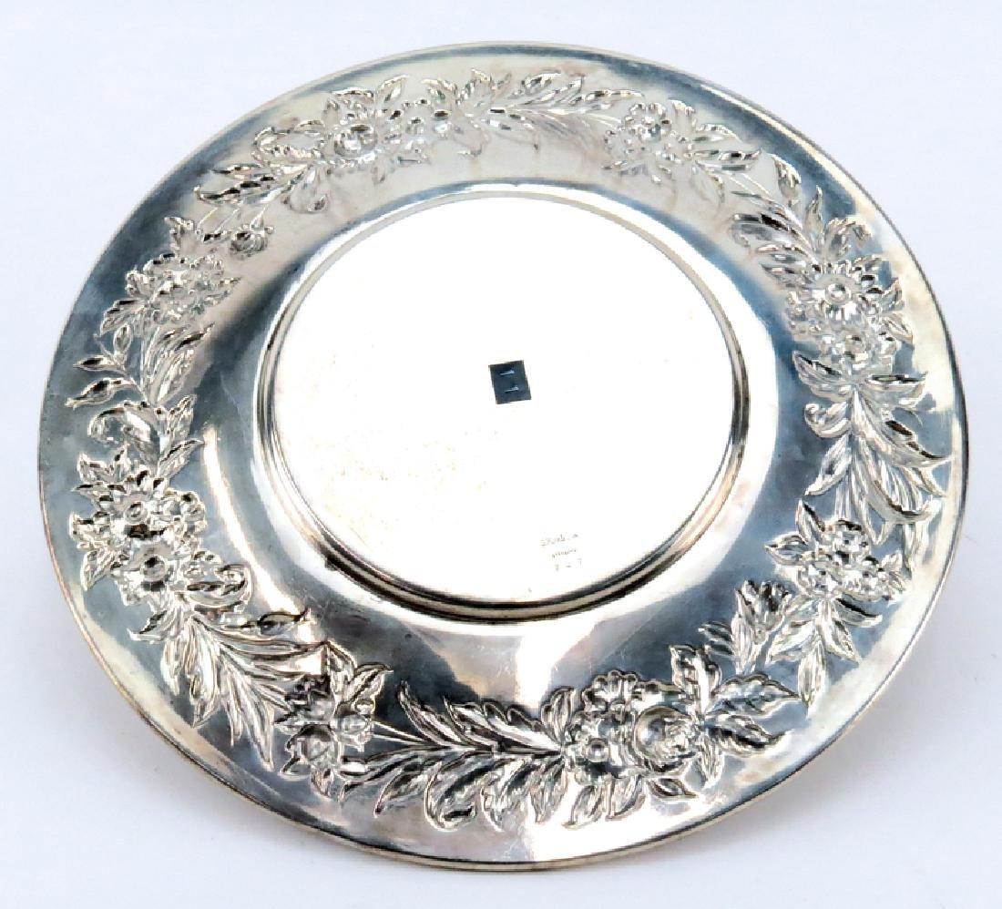 Vintage Kirk Sterling Silver Plate. Signed. Light - 2