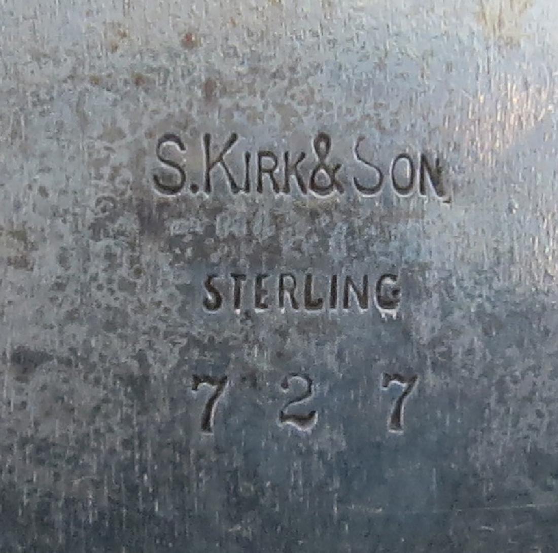 Vintage Kirk Sterling Silver Plate. Signed. Light - 3