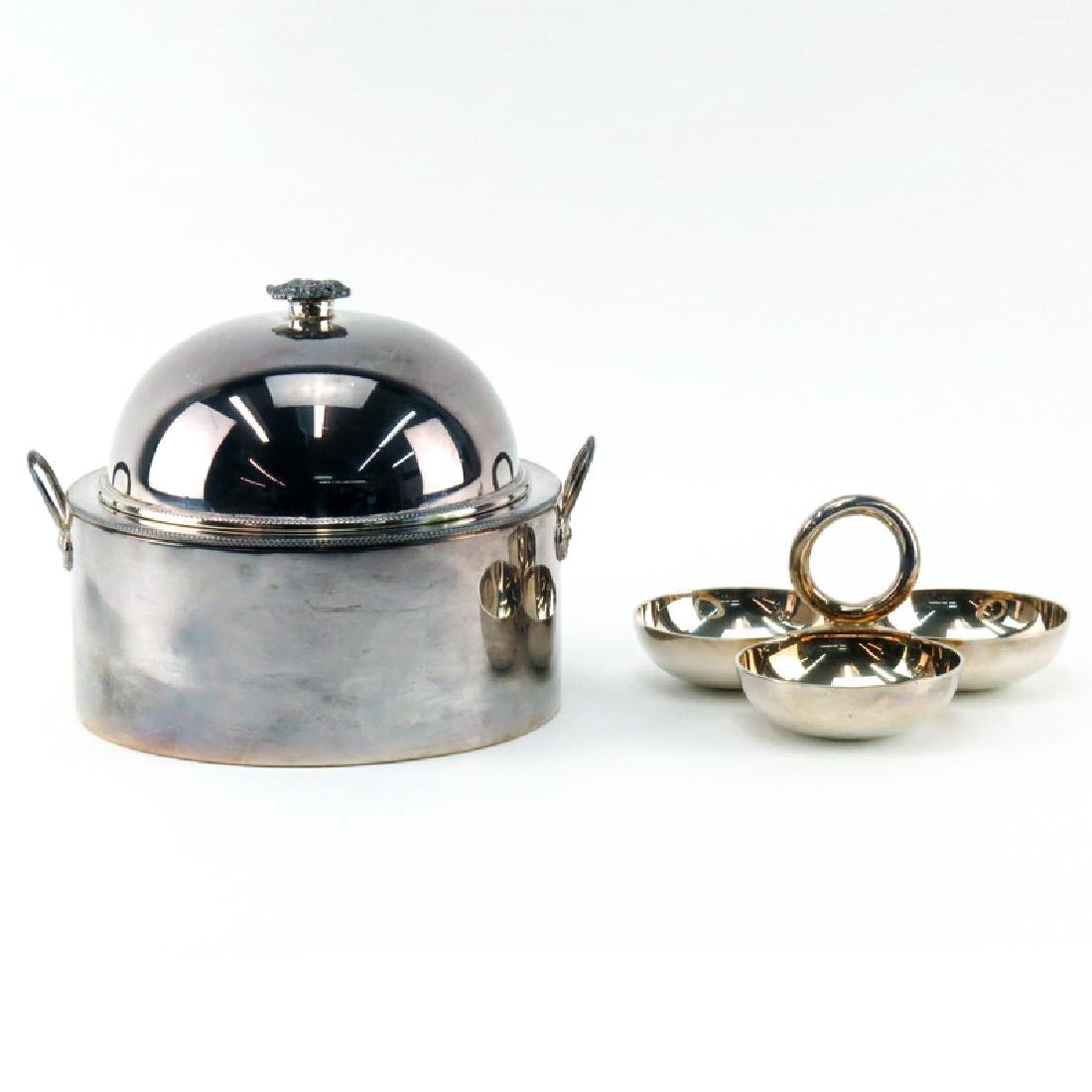 Two Elegant Silver Plate Serving Pieces. Includes a