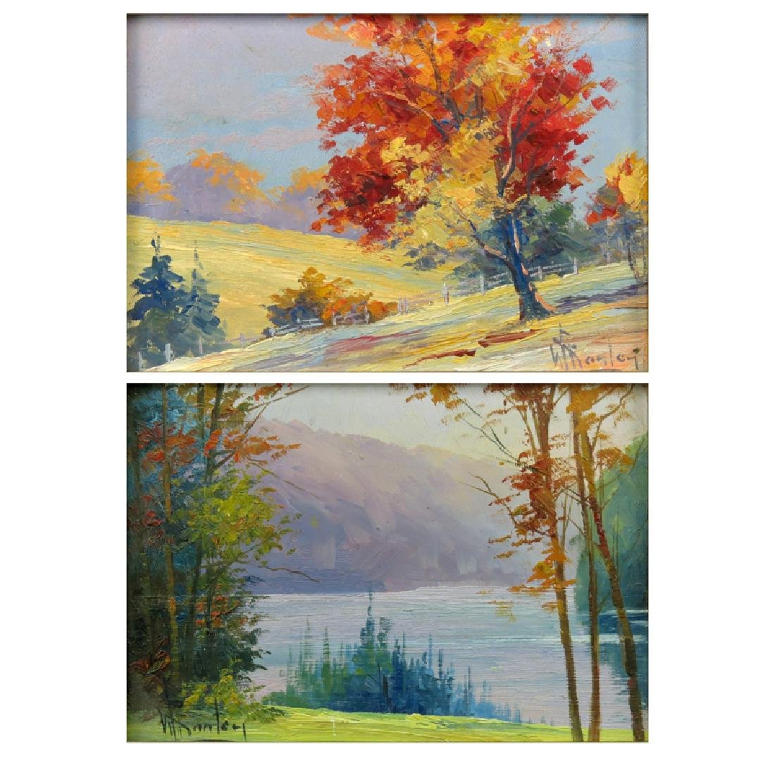 Grouping of Two (2) Artist Signed Oil on Board Canadian