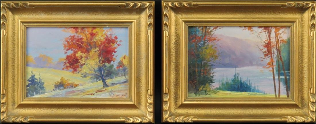 Grouping of Two (2) Artist Signed Oil on Board Canadian - 2