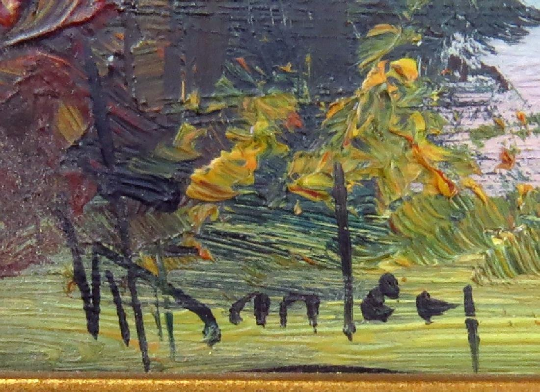 Grouping of Two (2) Artist Signed Oil on Board Canadian - 4