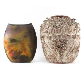 Grouping of Two (2) Large American Ceramic Vases.