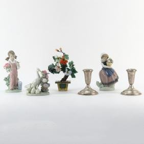 Grouping of Six (6) Tabletop Items. Includes: Lladro