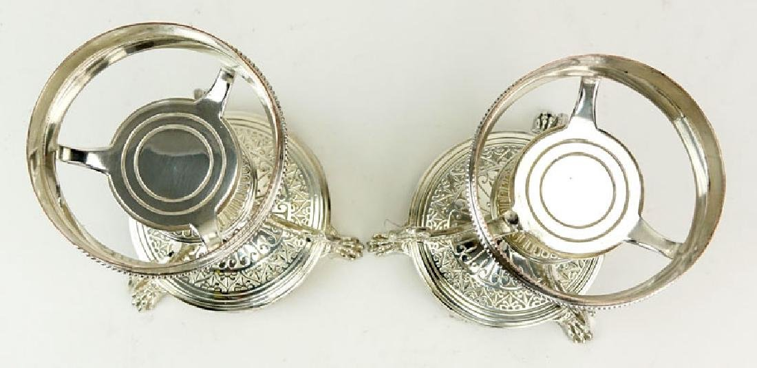 Pair of Elkington & Co Silver Plate Compote Bases. - 2