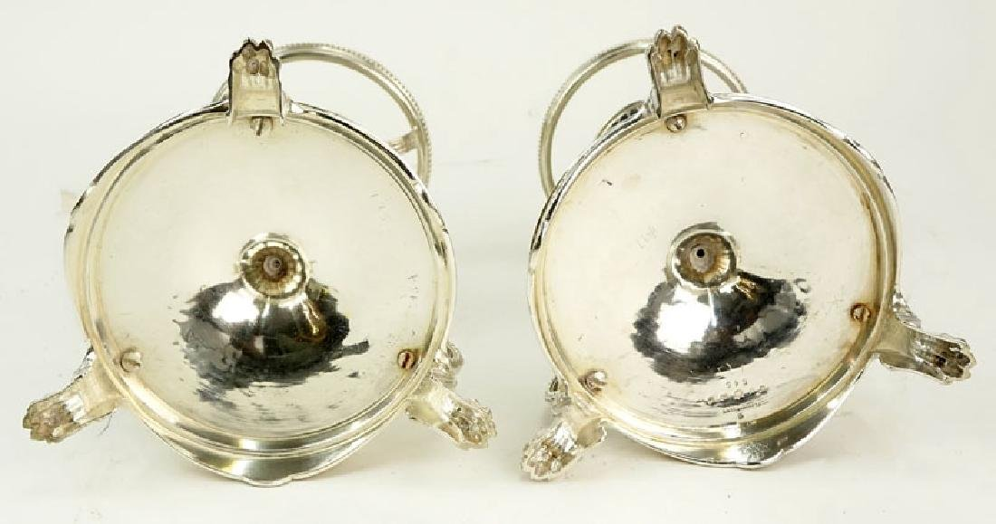 Pair of Elkington & Co Silver Plate Compote Bases. - 4