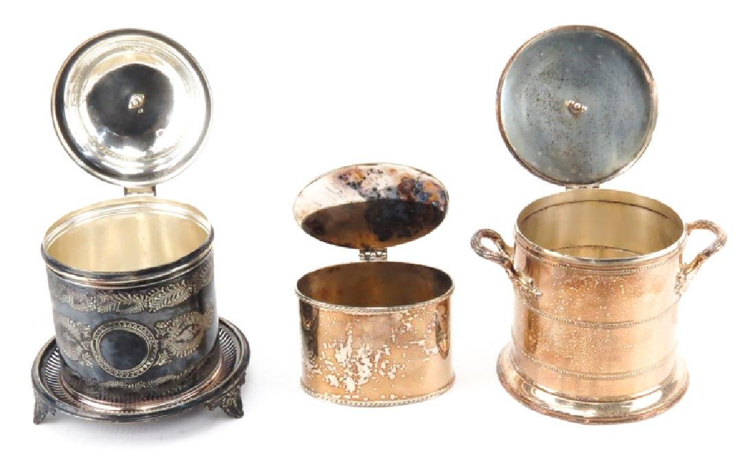 Grouping of Three (3) Vintage English Silver Plate - 2