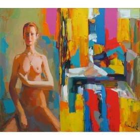 Nicola Simbari, Italian  (1927 - 2012) Oil on canvas