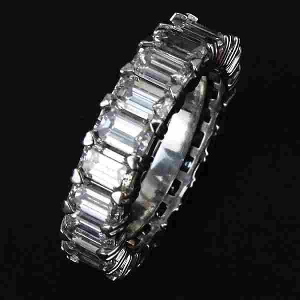 Contemporary Approx. 6.0 Carat Emerald Cut Diamond and