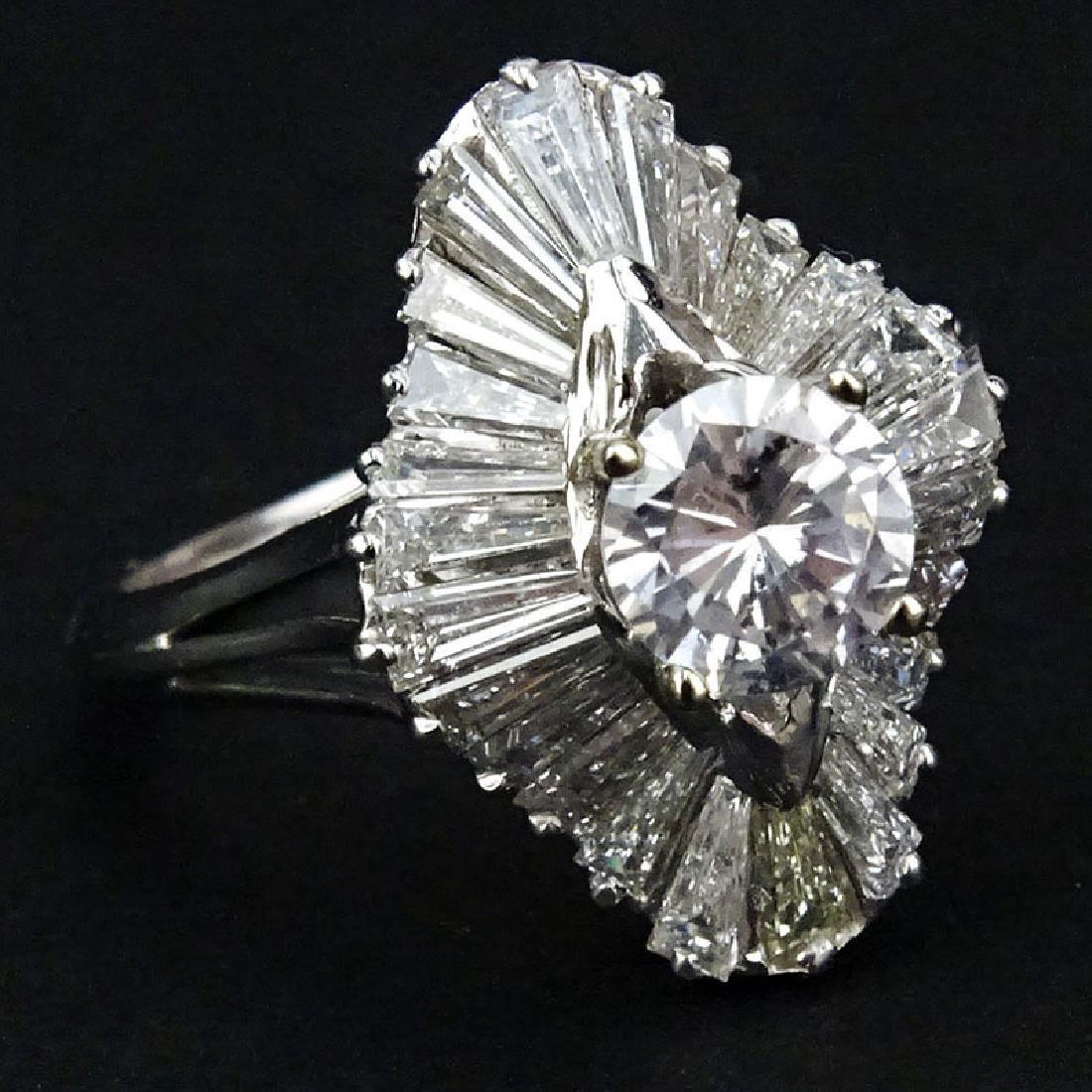 Contemporary Approx. 4.50 Carat Diamond and Platinum