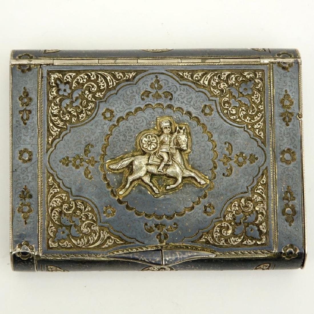 Early 20th Century Russian Steel Cigarette Case with