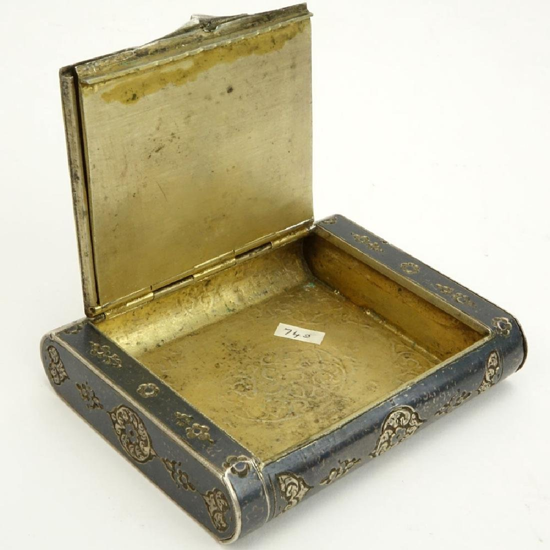 Early 20th Century Russian Steel Cigarette Case with - 5