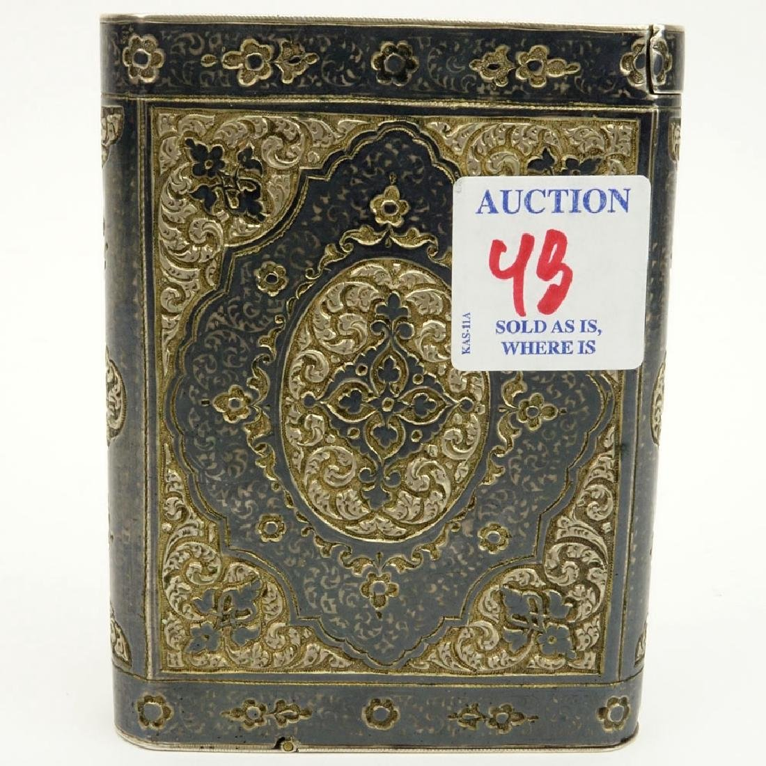 Early 20th Century Russian Steel Cigarette Case with - 6