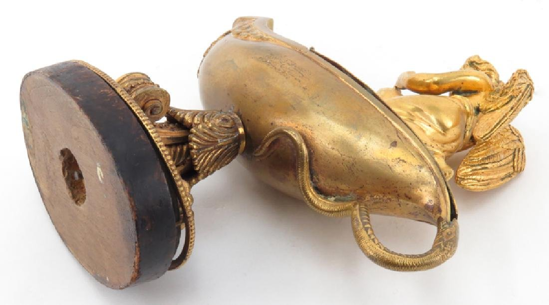 Late 19th or Early 20th French Empire Style Gilt Bronze - 5