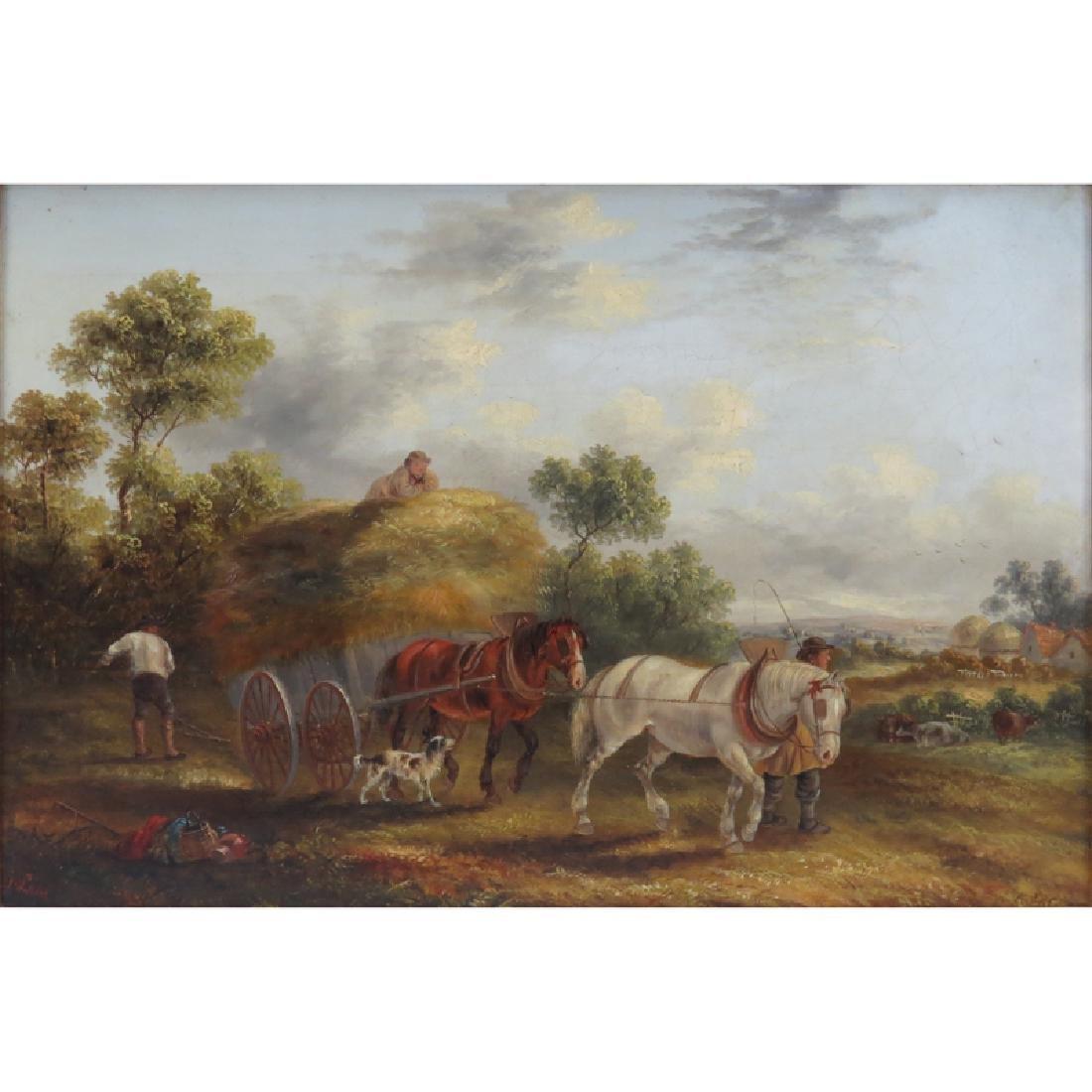 Georgina Lara, British  (fl.1862 - 1871) Oil on canvas