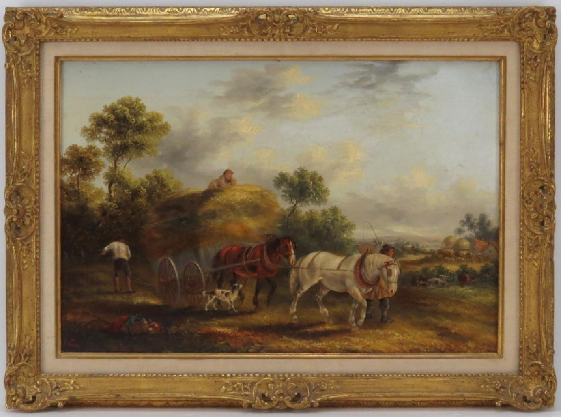 Georgina Lara, British  (fl.1862 - 1871) Oil on canvas - 2