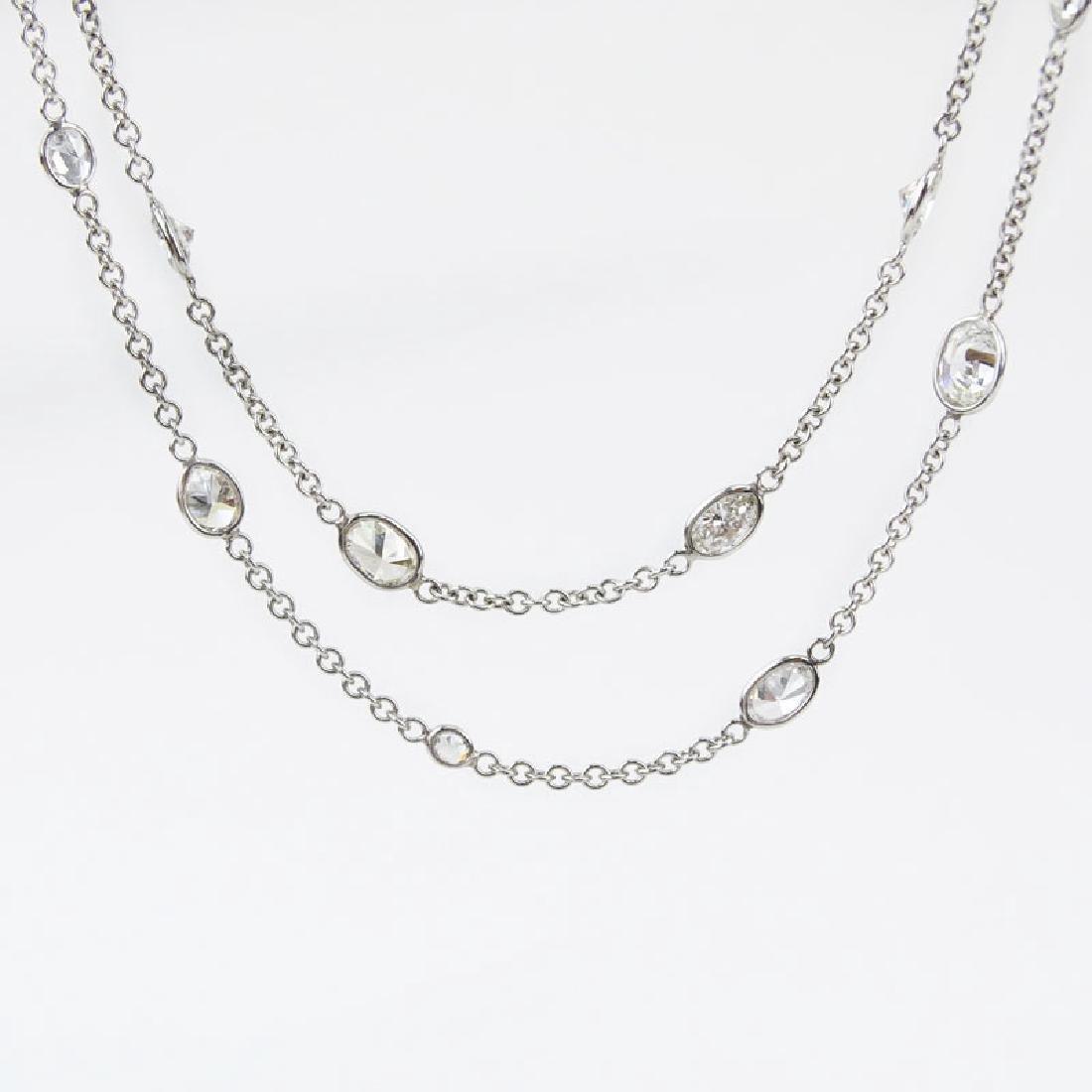 Approx. 11.50 Carat Oval Cut Diamond and 18 Karat White - 2