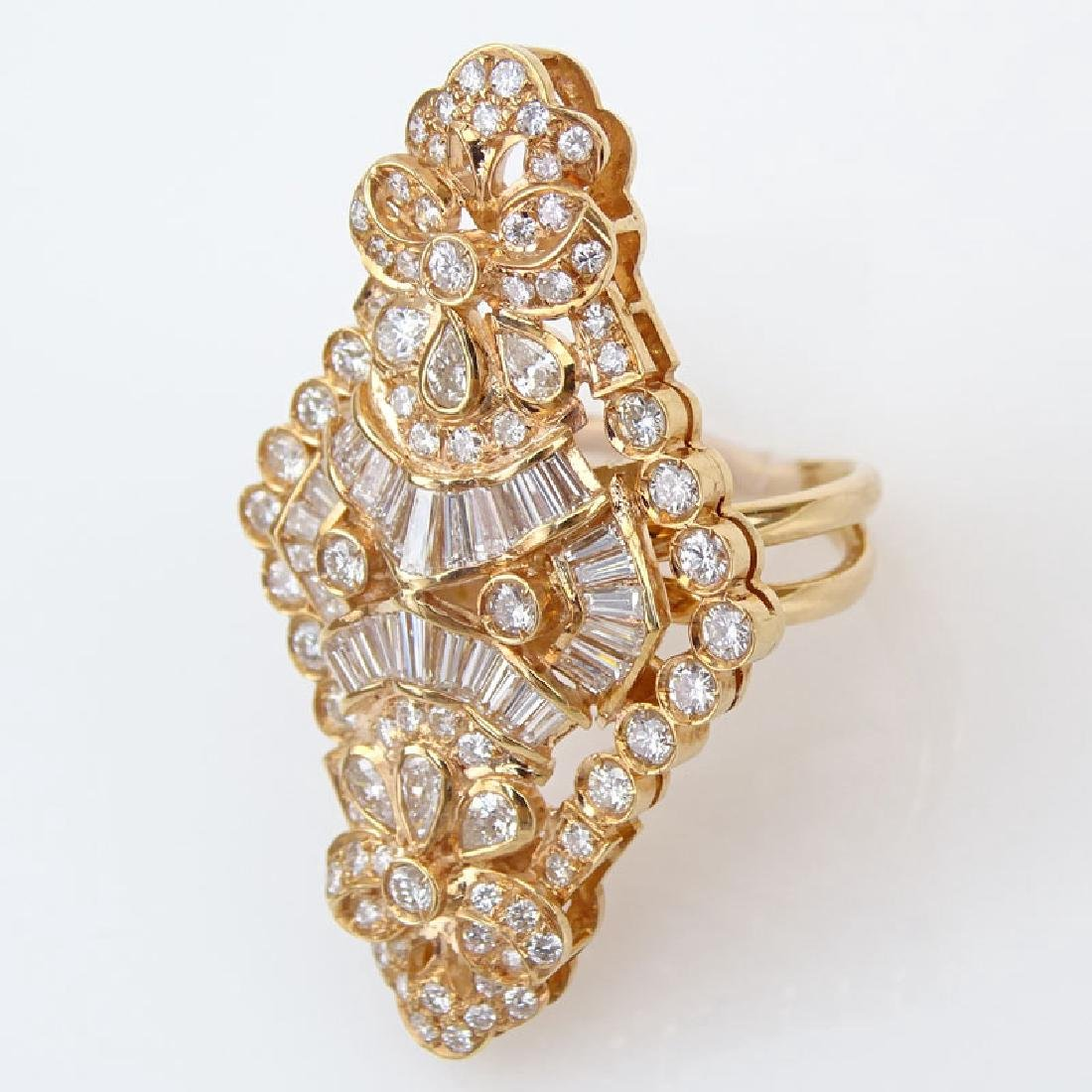 Approx. 4.0 Carat Round Brilliant, Tapered Baguette and