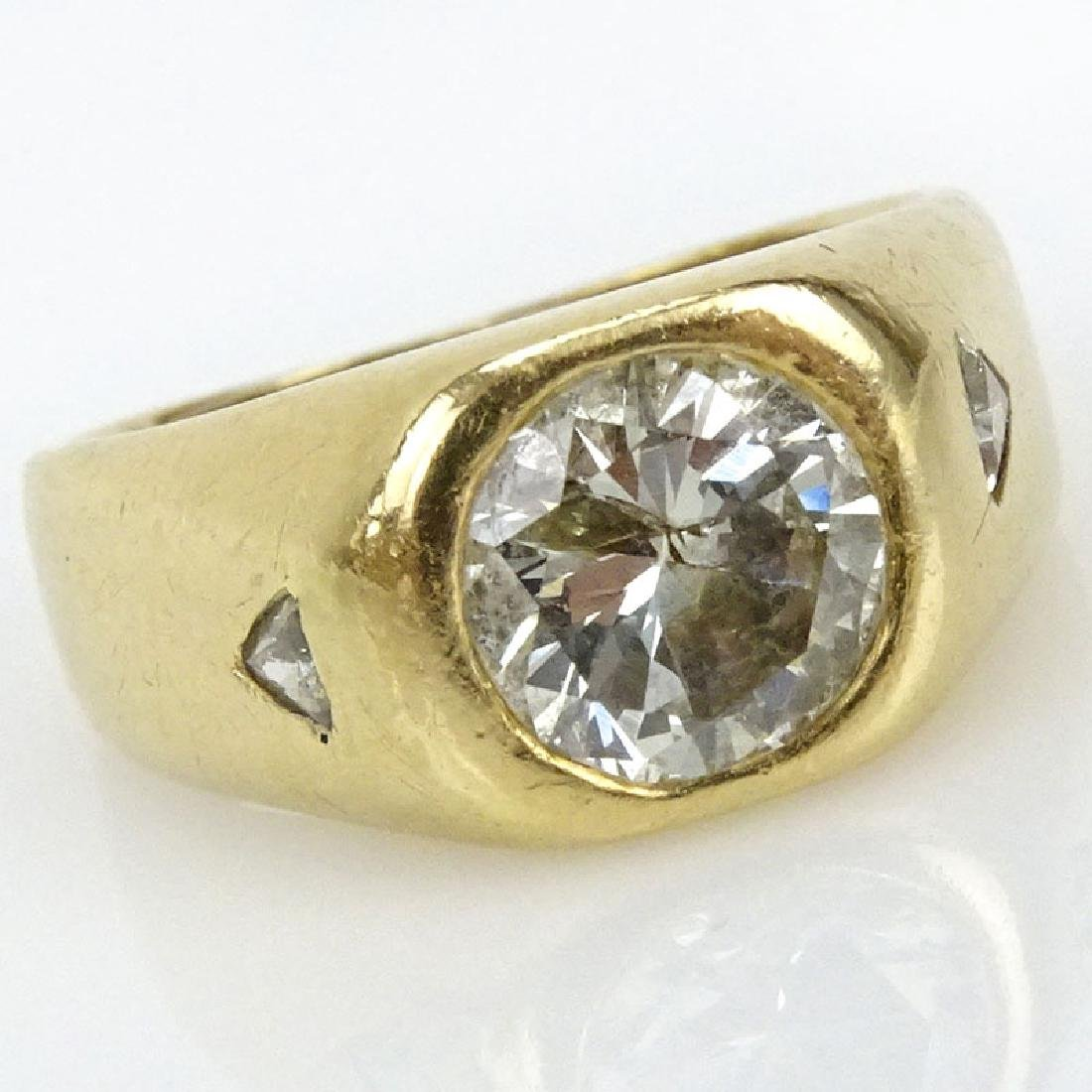 Man's Vintage Approx. 2.45 Carat Old European Cut