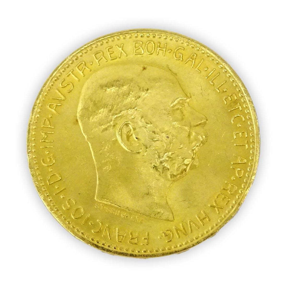 1915 Austrian 20 Corona Gold Coin. Approx. 6.8 grams.