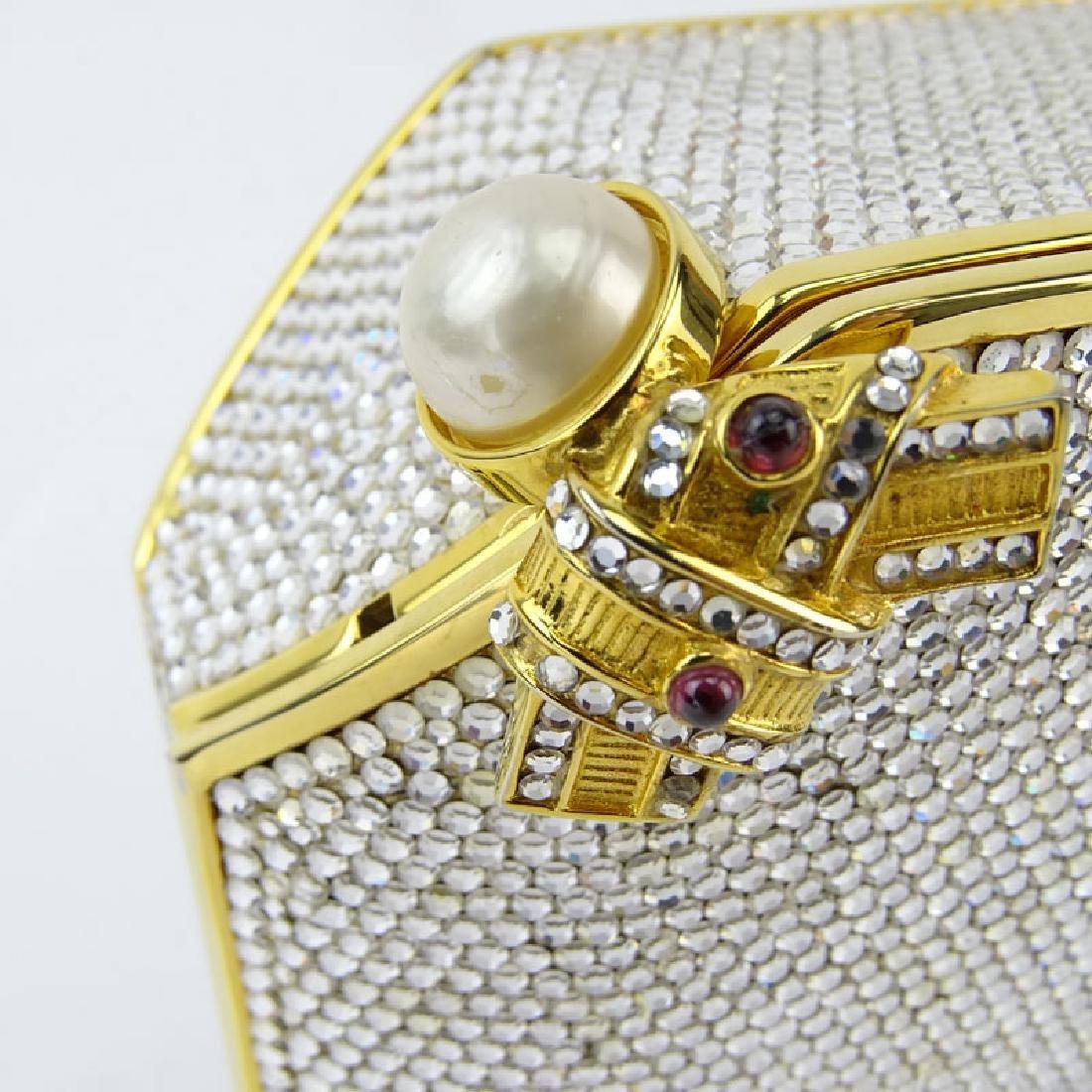 Judith Leiber Full Bead Gold Crystal Minaudiere. Criss - 2