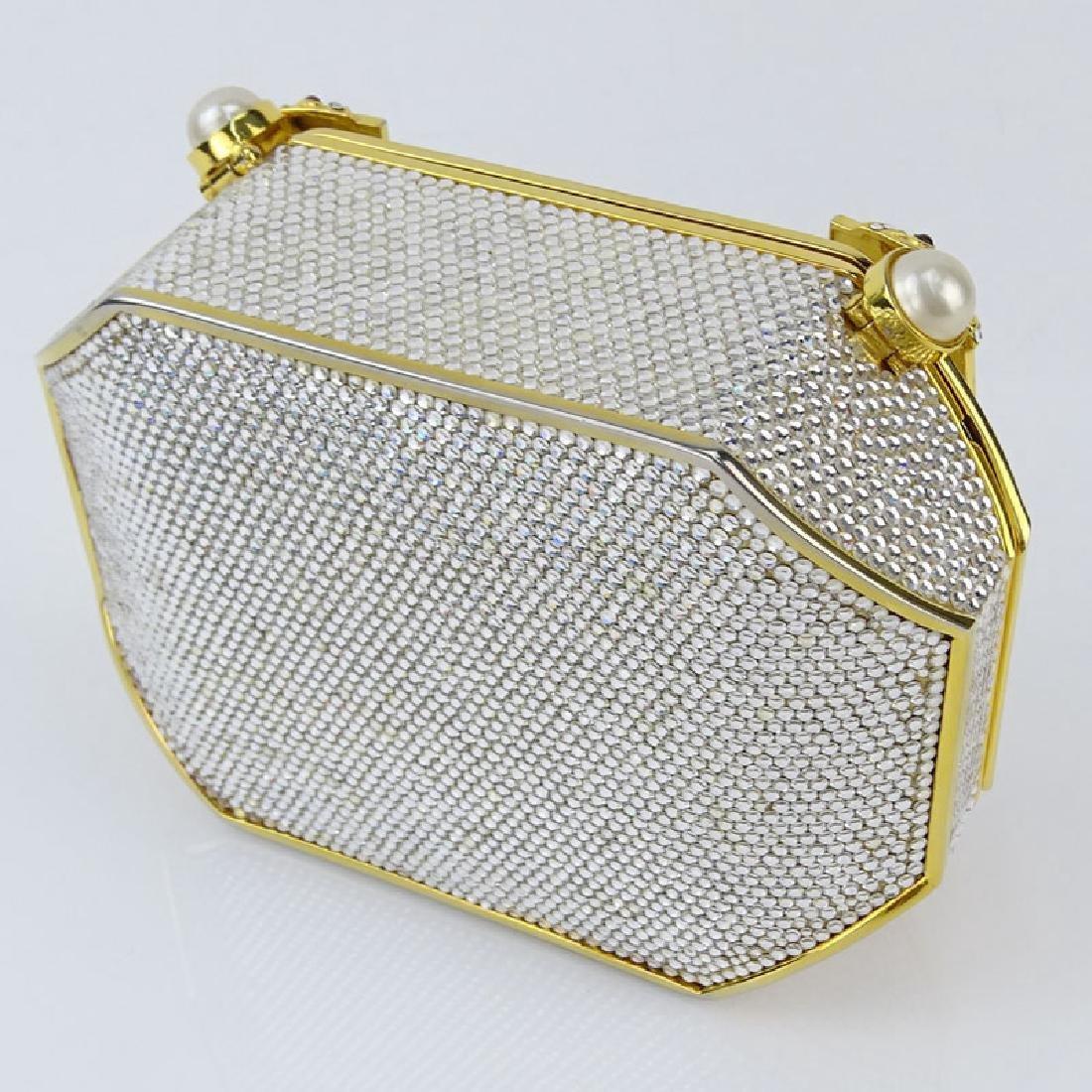 Judith Leiber Full Bead Gold Crystal Minaudiere. Criss - 3