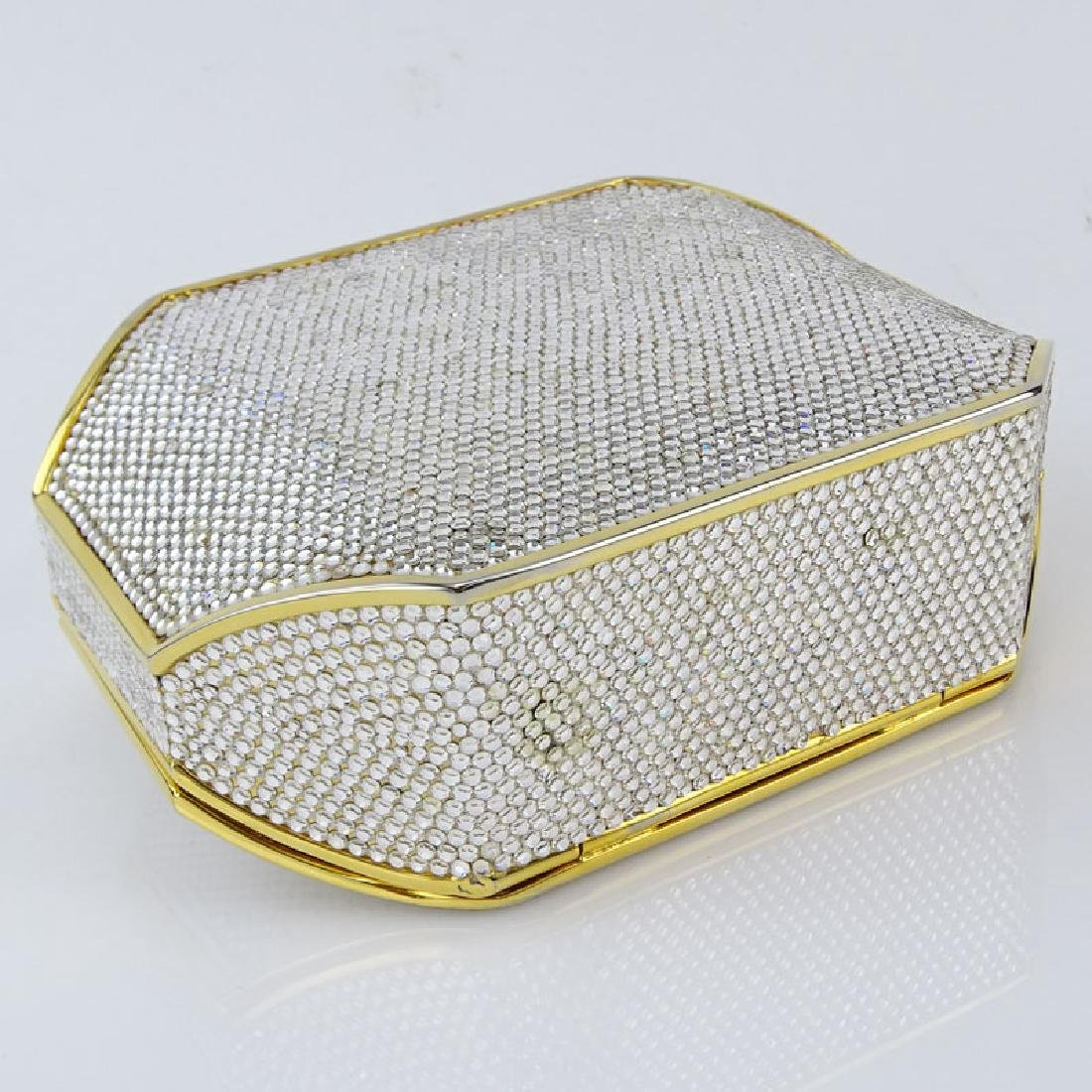 Judith Leiber Full Bead Gold Crystal Minaudiere. Criss - 4