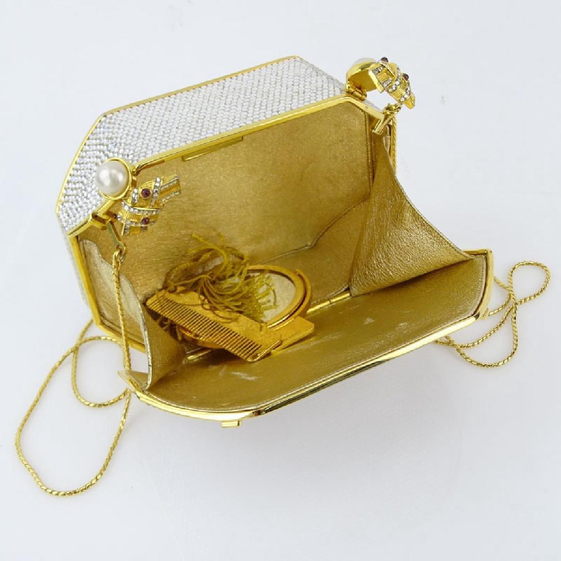 Judith Leiber Full Bead Gold Crystal Minaudiere. Criss - 5