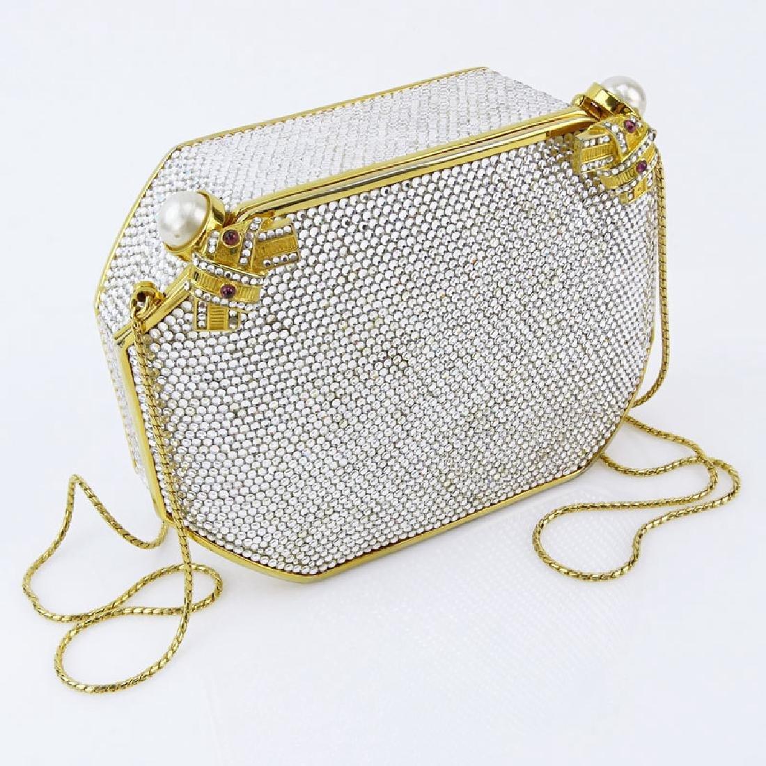 Judith Leiber Full Bead Gold Crystal Minaudiere. Criss - 6