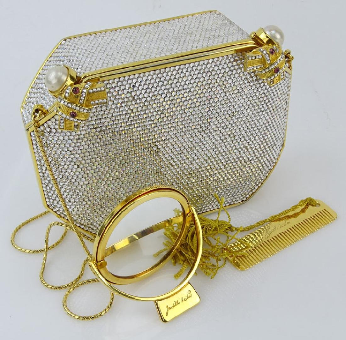 Judith Leiber Full Bead Gold Crystal Minaudiere. Criss - 7