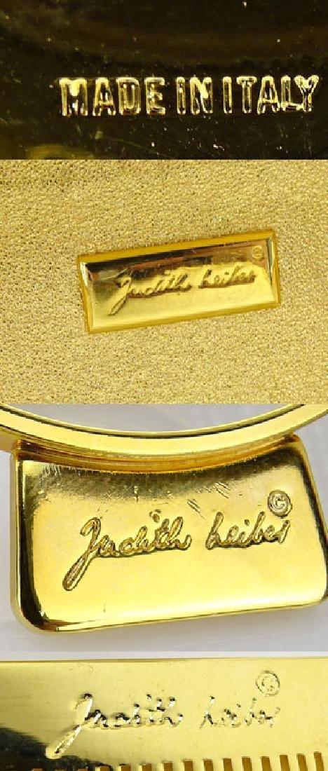 Judith Leiber Full Bead Gold Crystal Minaudiere. Criss - 8