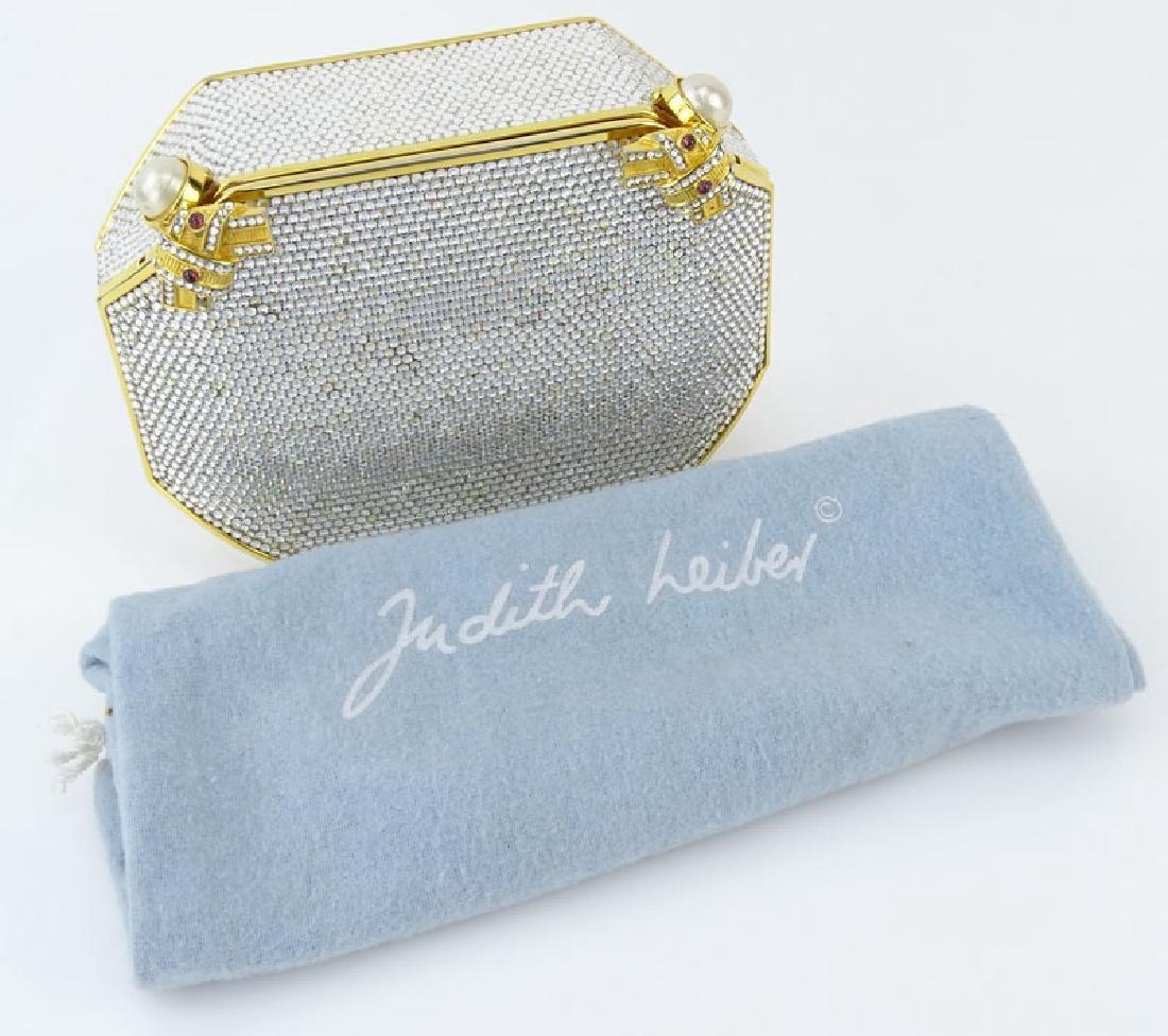 Judith Leiber Full Bead Gold Crystal Minaudiere. Criss - 9